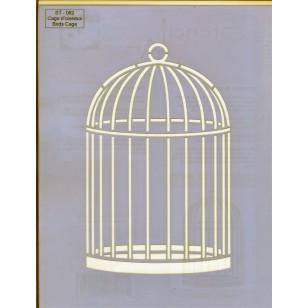 Pochoir Cage d'Oiseaux ST-082