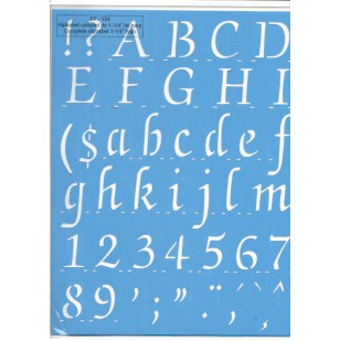 Pochoir Alphabet Complet 1/14
