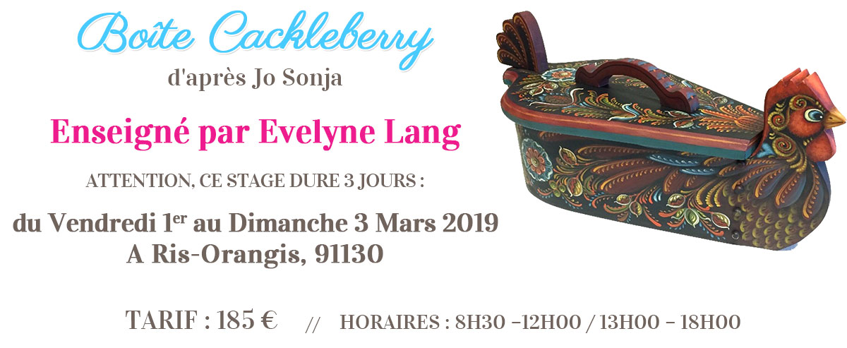 Stage peinture décorative - Boîte Cackleberry
