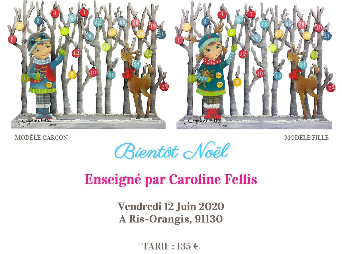 Stage peinture décorative - Calendrier Bientôt Noël