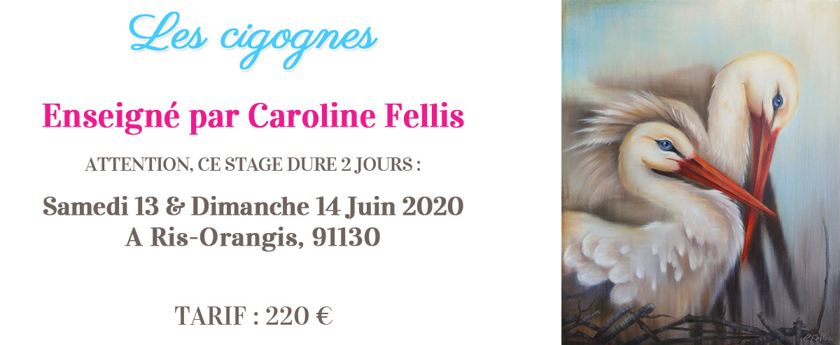 Stage peinture décorative - Cigognes par Caroline Fellis