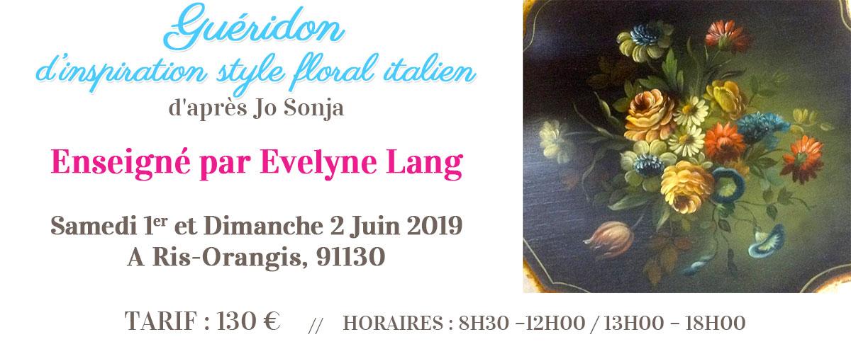 Stage peinture décorative - Guéridon Jo Sonja