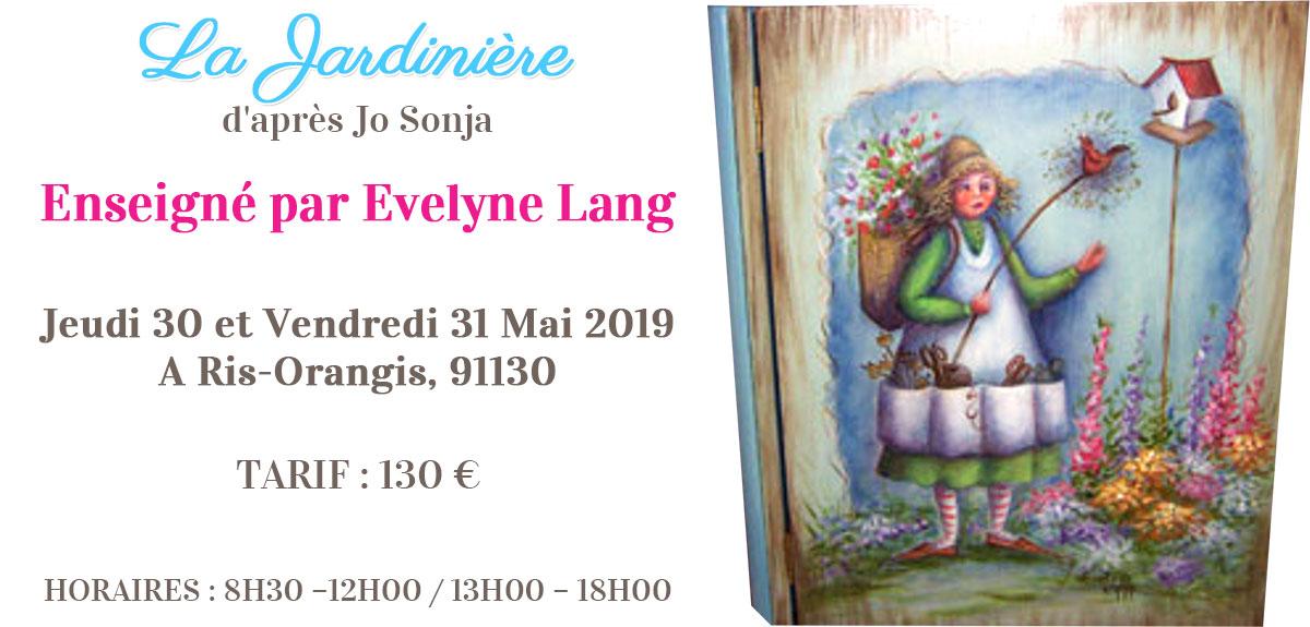 Stage peinture décorative - Jardinière Jo Sonja