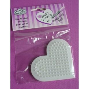 Coeur pour nettoyer les pinceaux (brush scrubby)