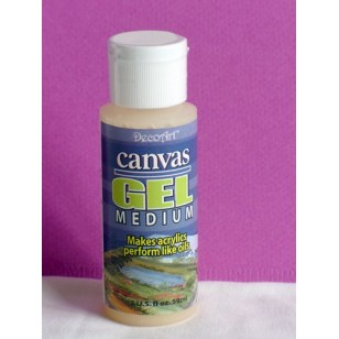 Decoart medium canvas gel 2 oz imitation peinture à l'huile
