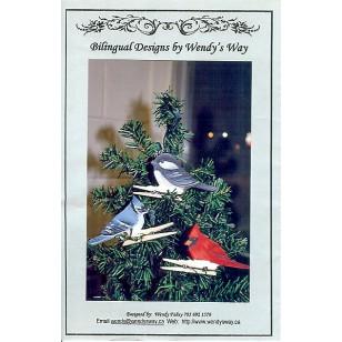 Winter Bird branch Clips