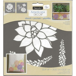 Pochoir - Plantes Grasses